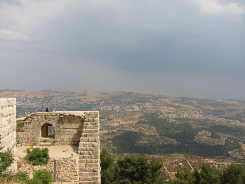 Looking out from Aljoun Castle